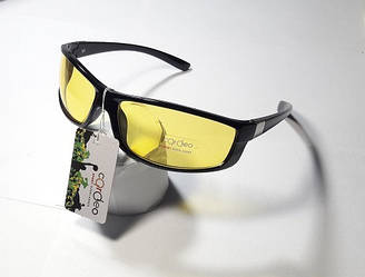 Окуляри спортивні жовті в чорній оправі .Вело / риболовля / полювання / туризм (ВЕЛО ОКУЛЯРИ)