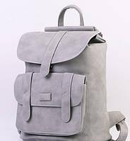 Городской молодежный женский модный стильный рюкзак сумка серый