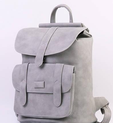 Городской молодежный женский модный стильный рюкзак сумка серый, фото 2