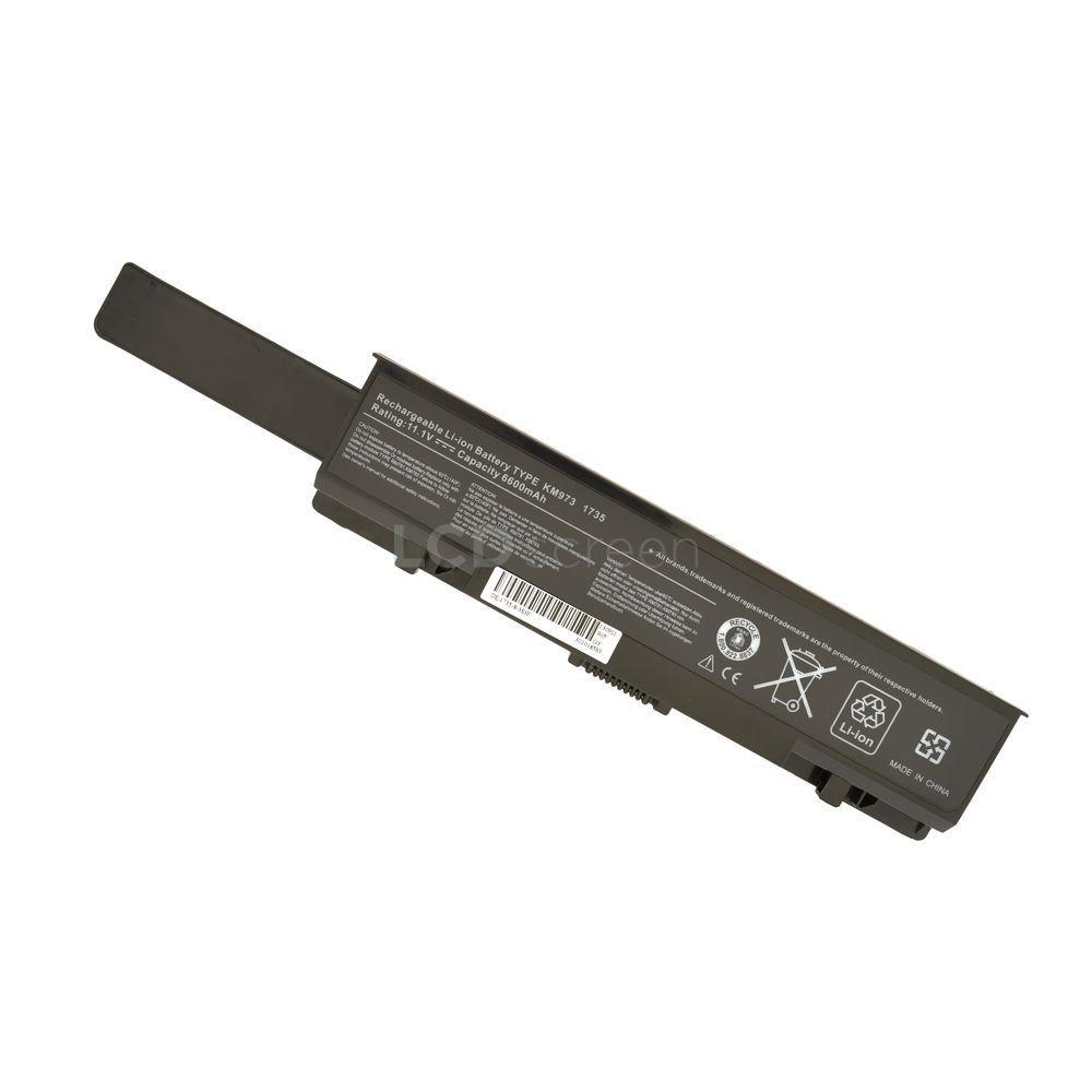 УСИЛЕННЫЙ! аккумулятор для ноутбука Dell KM973 Studio 1737 11.1V черный 6600 mAh