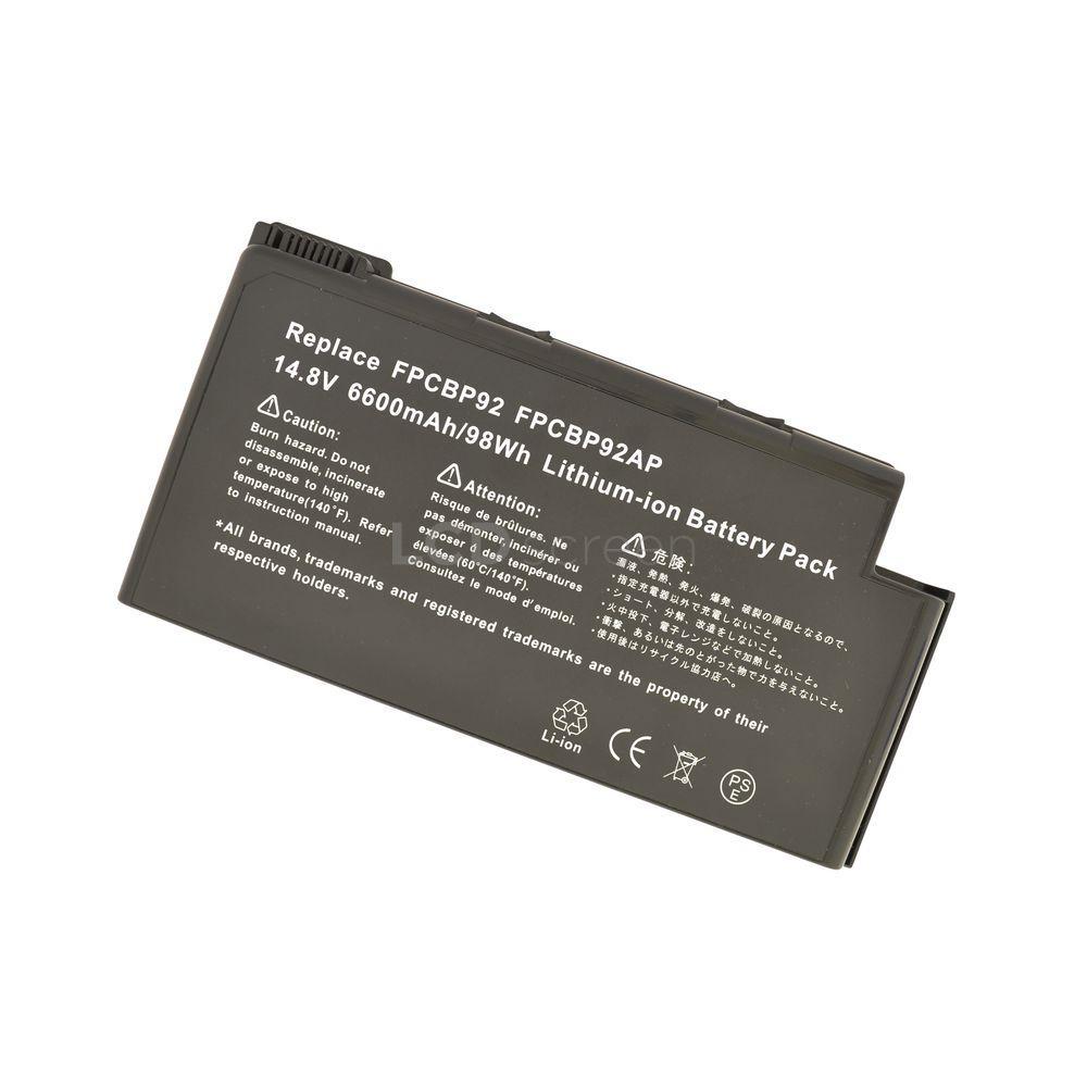 УСИЛЕННЫЙ! аккумулятор для ноутбука Fujitsu-Siemens FPCBP105 LifeBook N6000 14.8V черный 6600 mAh