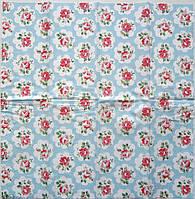 Серветка для декупажу. Дрібні квіточки, 21х21 см