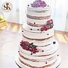 Свадебный торт. Торт свадебный кремовый, фото 4
