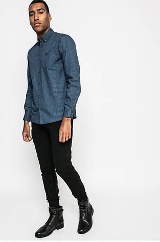 Рубашка мужская синяя из узорной ткани Medicine S, фото 2