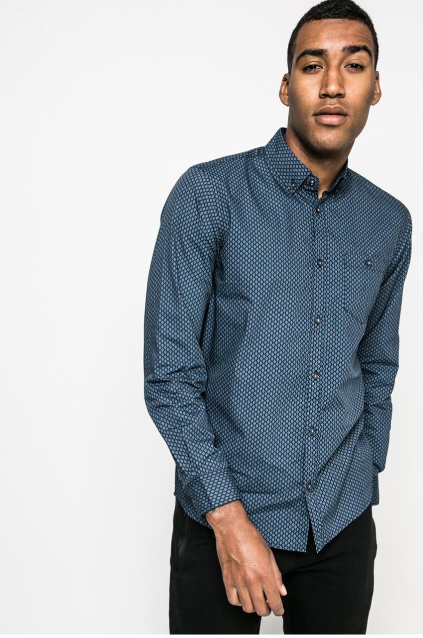 Рубашка мужская синяя из узорной ткани Medicine S