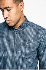 Рубашка мужская синяя из узорной ткани Medicine S, фото 3