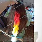 Канекалон огненный омбре, яркие косы для причёсок, фото 2