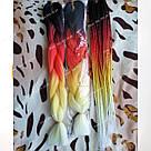 Канекалон огненный омбре, яркие косы для причёсок, фото 4