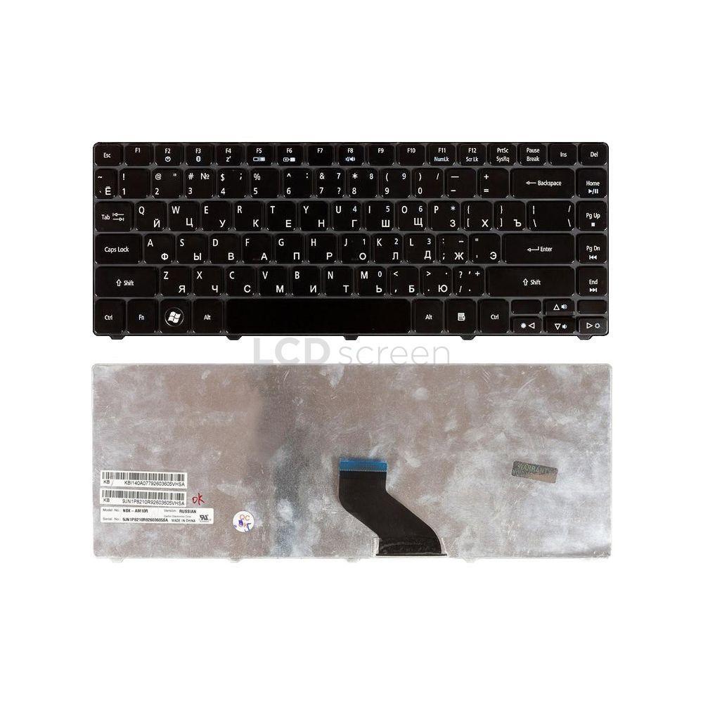 Клавиатура для ноутбука Acer Aspire (3810T) черный, Glossy, Русская