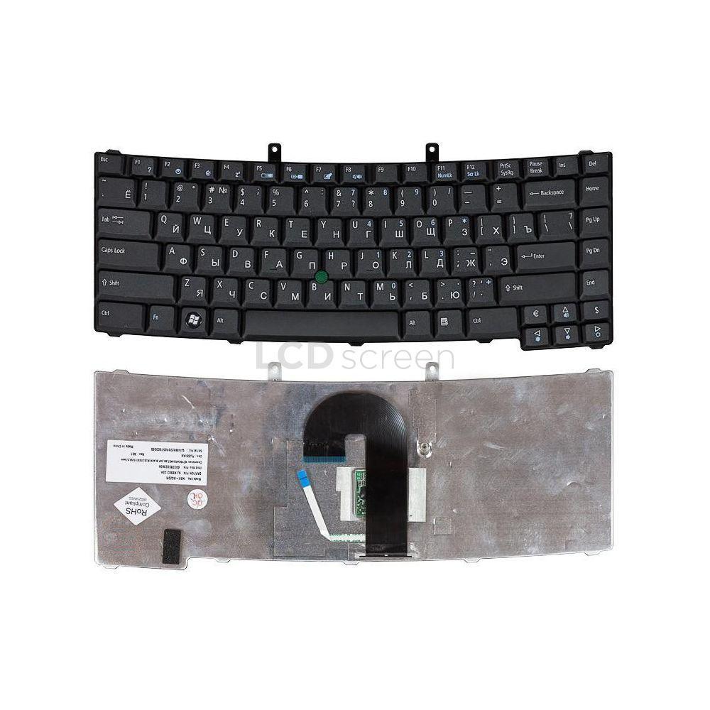 Клавиатура для ноутбука Acer TravelMate (6410, 6452, 6460, 6490, 6492) с указателем (Point Stick) черный, Русская