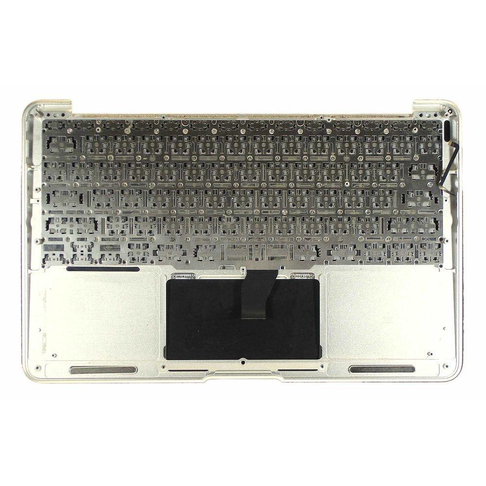 Клавиатура для ноутбука Apple MacBook Air (A1370) 2010+ серебряный с топ-панель, Русская (горизонтальный энтер)
