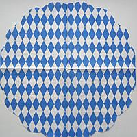 Серветка для декупажу. Блакитний ромб, 33х33 см
