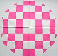 Серветка для декупажу. Рожеві прямокутники, 33х33 см