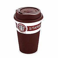 Чашка керамическая Starbucks 008 коричневая