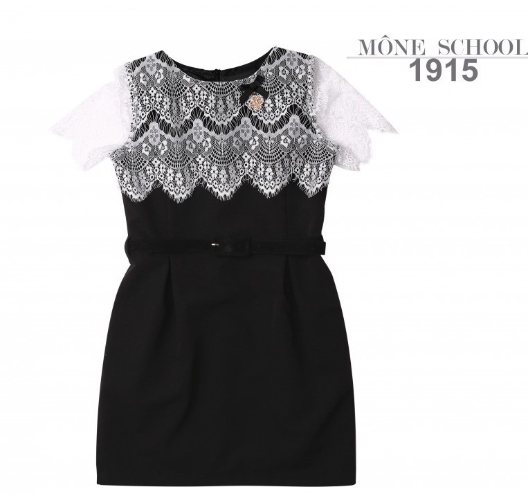 Школьная форма Моне 2019 г, школьное черное платье р-ры 146