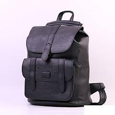 Городской молодежный женский модный стильный рюкзак сумка черная