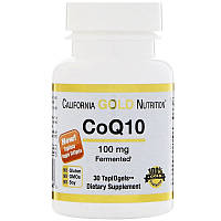 Коэнзим California Gold Nutrition, CoQ10, TapiOgels, 100 мг, 30 вегетарианских капсул