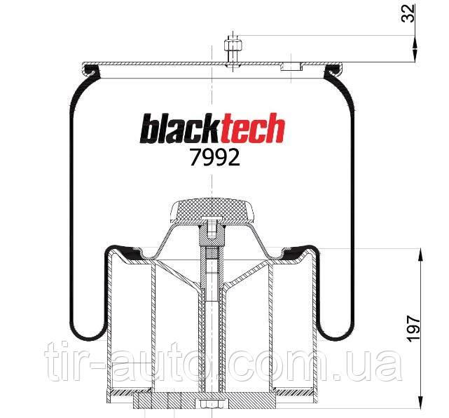 Пневморессора, пластиковый стакан ( BLACKTECH ) RML 7992 CP