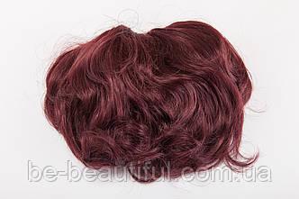 Шиньон-накладка №5.Цвет баклажановый