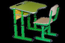 Комплект ученический регулируемый 1- местный Антисколиозный с площадкой (Парта 90136+1стул)