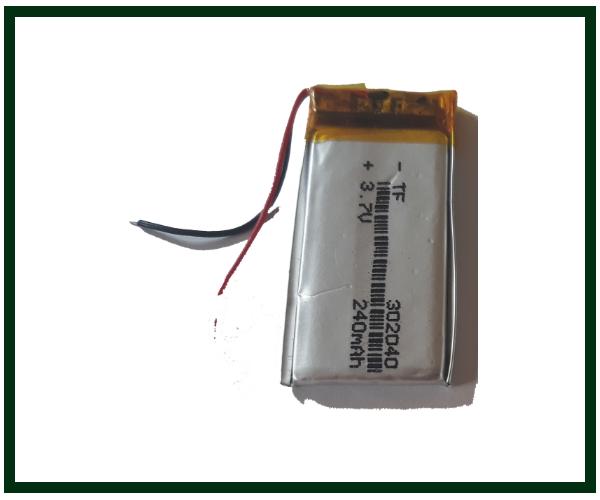 Аккумулятор с контроллером универсальный 30mm * 20mm * 4mm (Li-ion, 3.7V, 200 mAh)