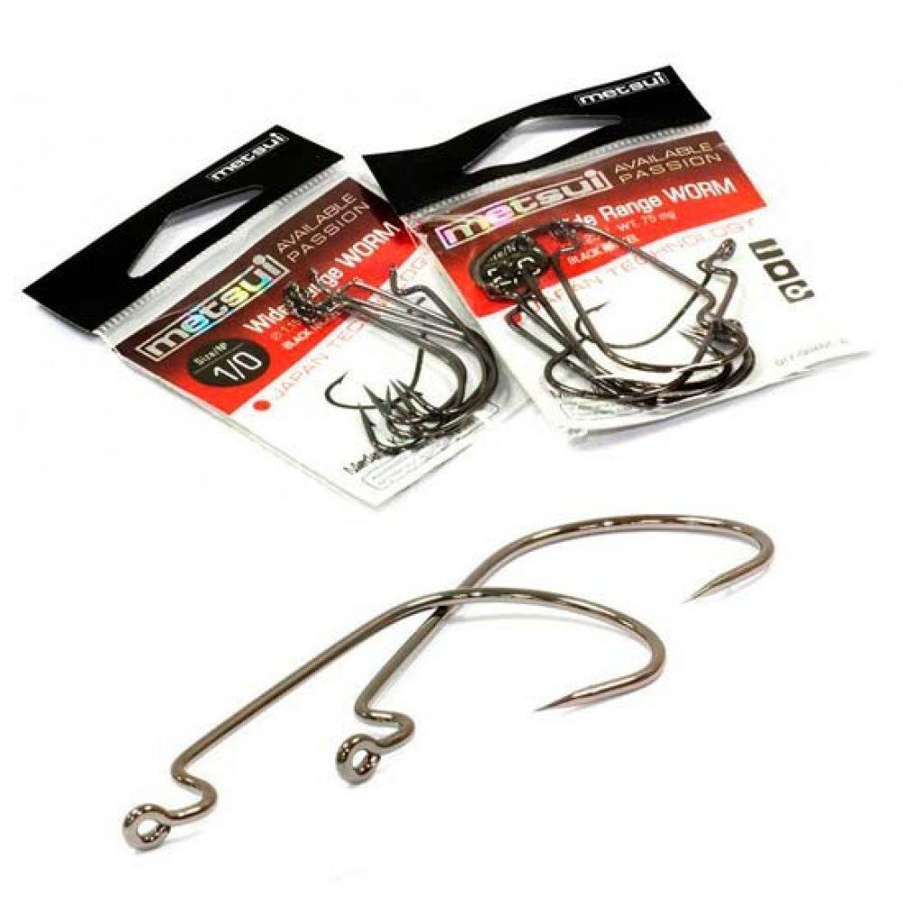 Крючки Metsui WIDE RANGE WORM цвет bln, размер № 2, в уп. 6 шт. (8803720032861)