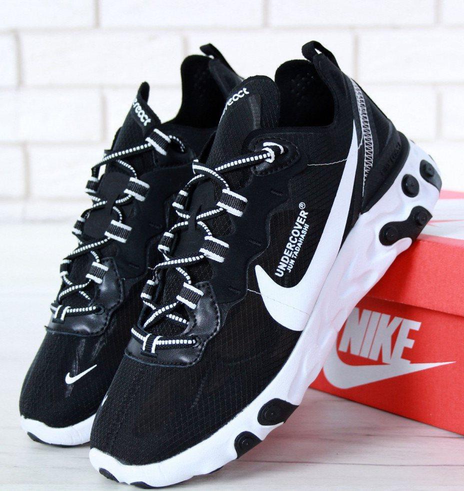 Мужские Кроссовки Undercover X Nike React Element 87 Black/White