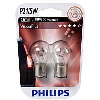 Лампы Philips P21/5W Vision Plus +50%