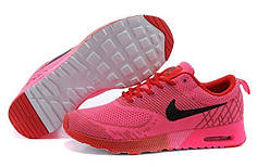 Женские кроссовки Nike Air Max Thea Flyknit малиновые