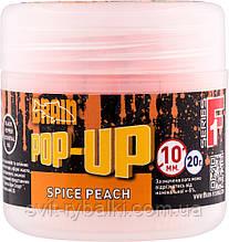 Бойлы Brain Pop-Up F1  10 mm 20 gr Spice Peach (персик/специи)