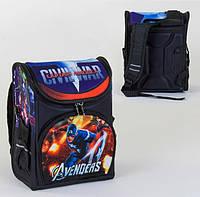 Каркасный рюкзак для школьников Мстители спинка ортопедическая