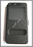 Черный чехол-книжка Double Window для смартфона Huawei Ascend G7