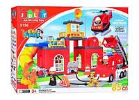 Детский развивающий конструктор jdlt пожарная станция 85 деталей