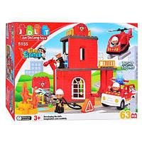 Детский развивающий конструктор jdlt пожарная станция 63 детали