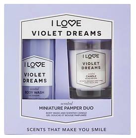 """Набор """"Гель для душа и свеча"""" I Love Violet Dreams Mini Pamper Duo"""