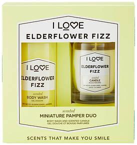 "Набор ""Гель для душа и свеча"" I Love Elderflower Fizz Mini Pamper Duo"