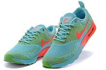 Женские кроссовки Nike Air Max Thea Flyknit зелено-кораловые, фото 3