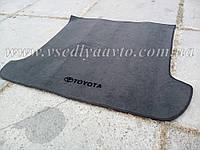 Ворсовый коврик в багажник Тойота Iand Cruiser 120 7 мест (Серый)