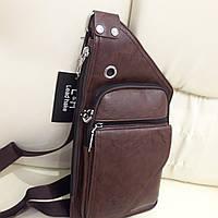 Молодежный городской рюкзак на одно плечо мини стильный