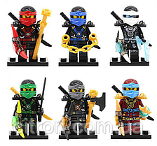 Набор Лего Ниндзяго 6 штук Мини фигурки Аналог Конструктор