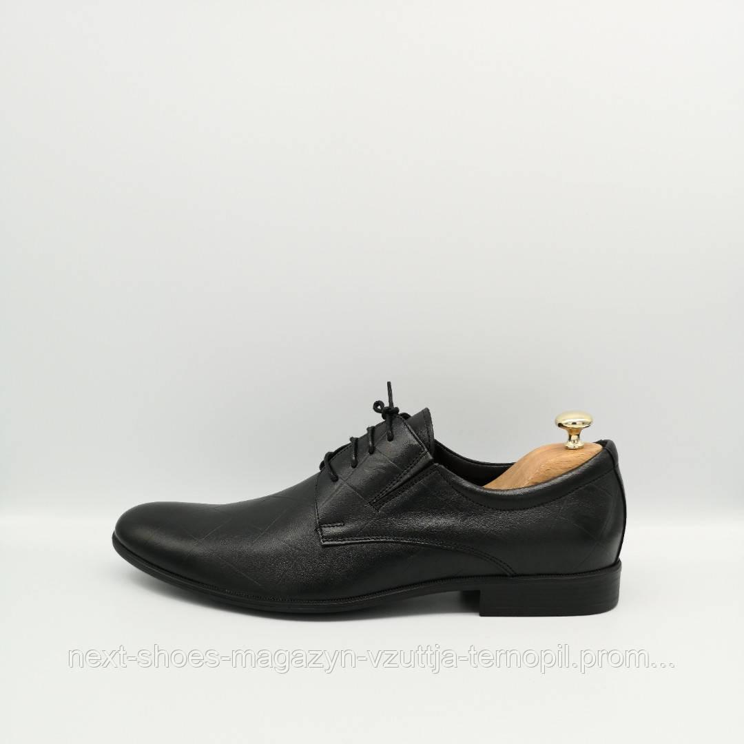 Чоловічі туфлі шкіряні TAPI (Польща) чорні