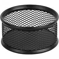 Подставка для скрепок круглая метал., черная