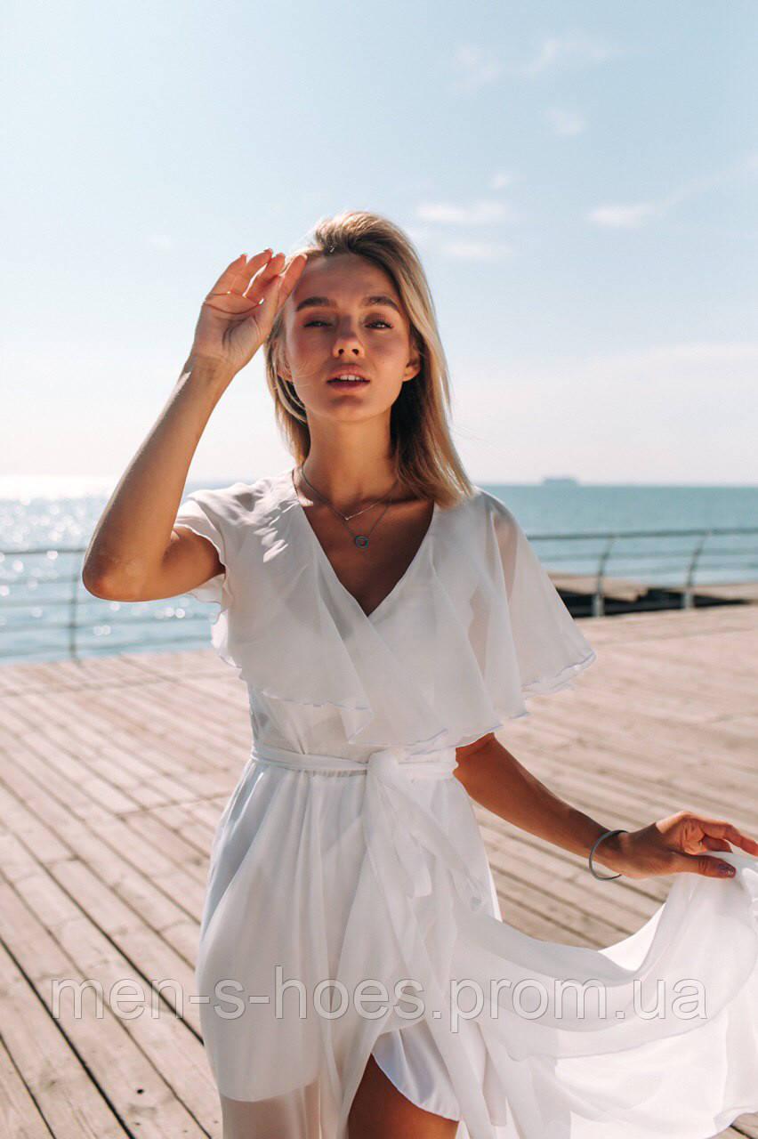 Красивое легкое платье «Донна» 42 - 44, 44 - 46 белое