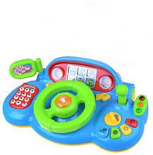 """Автотренажер музыкальный руль Play Smart """"Я тоже рулю"""" 7318 (3 цвета)"""