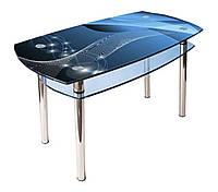 Стол стеклянный кухонный КС-2