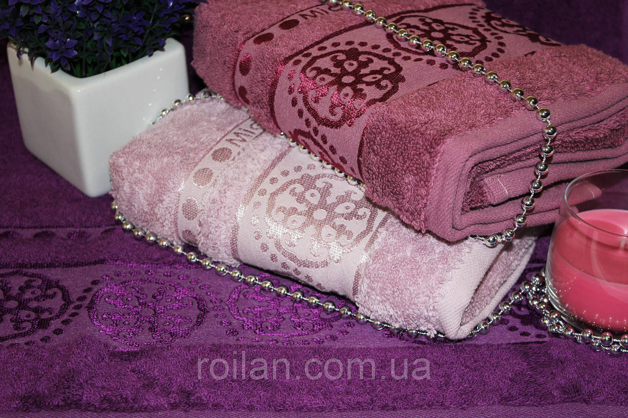 Лицевые турецкие полотенца Фиолет Micro delux