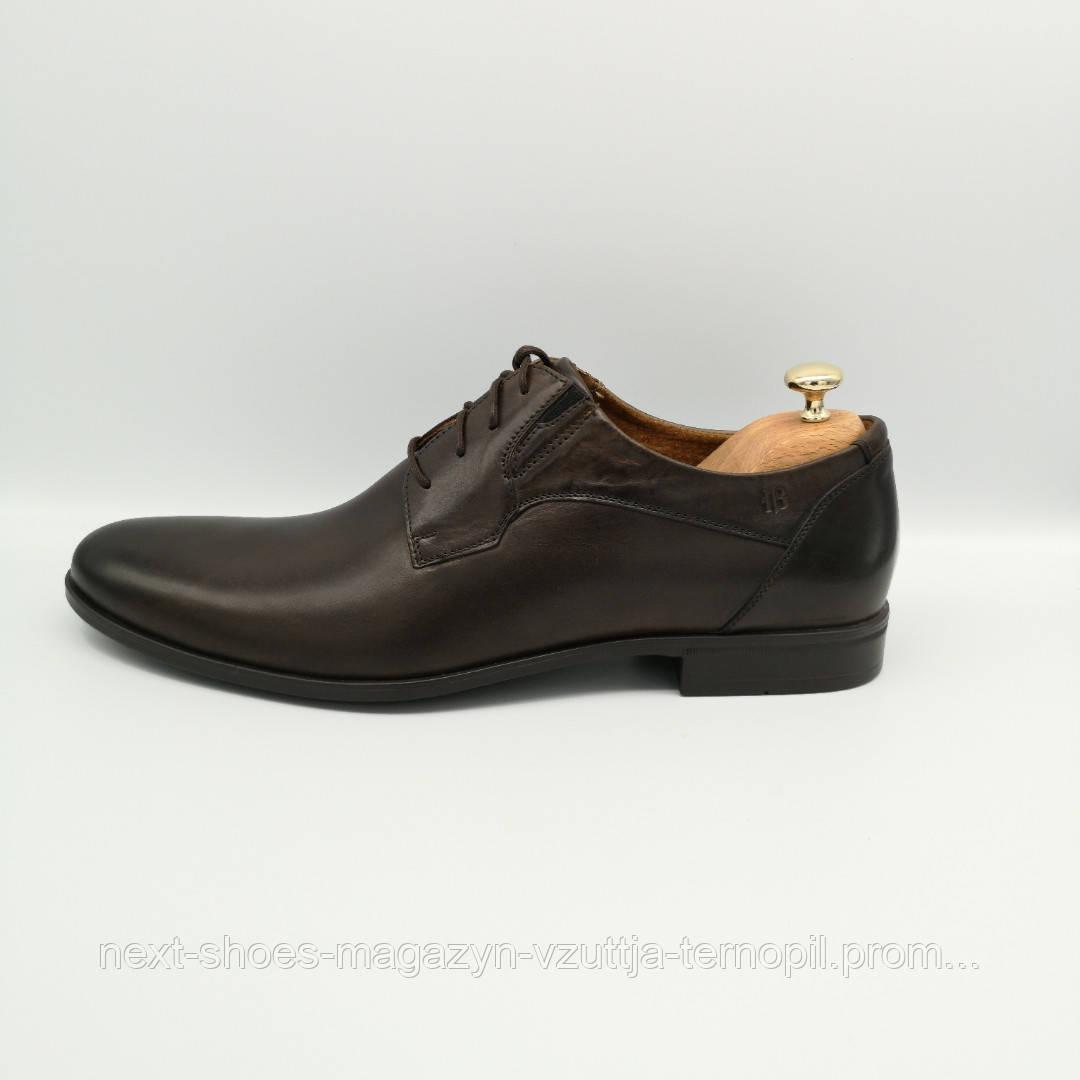 Туфлі чоловічі сині Tapi Польща демісезонні арт модель 3667