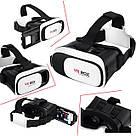 Очки виртуальной реальности VR Box 2.0 - 3D с пультом джойстиком Glasses 3д shinecon (23423rd) телефона шлем, фото 5
