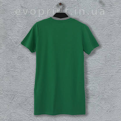 Футболка однотонная мужская зеленая, фото 3