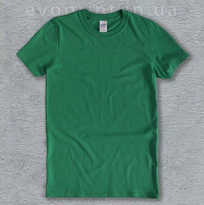 Футболка однотонная мужская зеленая, фото 2